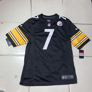New Ben Roethlisberger #7 Pittsburgh Steelers Game Team Jersey Black Large