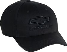 Chevy Bowtie Black Tonal Cotton Hat