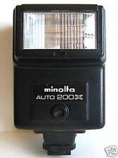 Minolta Flash X370 X570 X700 XD XE XG1 XG7 XG9 XGM Canon AE-1 Pentax K1000