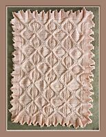 Baby Pram Blanket/Cover Knitting Pattern with frilled edge Cot DK 989