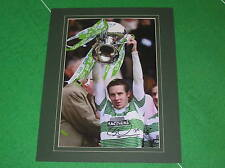 Celtic Stefan Johansen Signed & Mounted 2015 Scottish League Cup Winners Photo