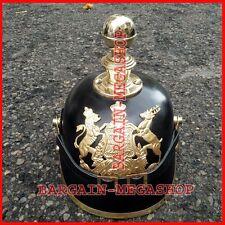 WW1, WW2 Leather German war Prussia Prussian PICKELHAUBE Spiked Helmet for sale