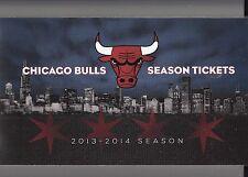 2013-14 CHICAGO BULLS SEASON TICKET BOOK UNUSED ROSE NOAH 45 GAMES X 4 SEATS