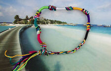6PCS Rainbow Macrame Friendship bracelets / Angklets *20879 FREE SHIP