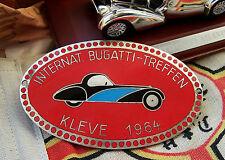 International BUGATTI Meeting german Car Badge 1964 Kleve Germany - Type 44