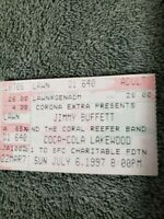 JIMMY BUFFETT & THE CORAL REEFER BAND 1997 HAVANA DAYDREAMIN' TOUR Ticket Stub