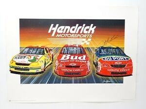 "Jeff Gordon Signed Poster 1995 Hendrick Motorsports Kelloggs Budweiser 30x22"""