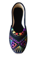 Women Shoes Designer Leather Jutties Indian Ballerinas Black UK 3.5-9.5 EU 36-44