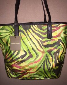Tommy Bahama Women's Purse Tote Beach Bag Batik Waves Seabrook Thw71699 NWT