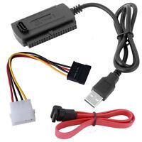 Für 2.5/3.5 Festplatte USB 2.0 Zu SATA/PATA/IDE Mit Dem Adapter Konverter Kabel