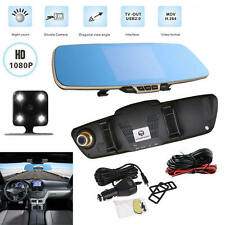 170° Car Rear View Mirror Monitor Dash Cam Recorder + Night vision Backup Camera