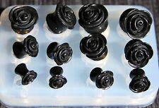 Multi Tunnel rose Ear Plug Piercing Mold.6 pair. SIZE:6,8,10,12,14,16. (A79) //J