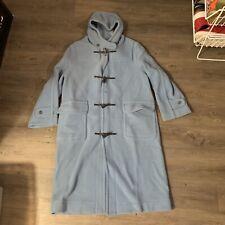Vintage Montgomery Tibbett Blue Wool Toggle Duffle Jacket Coat Size 38 England