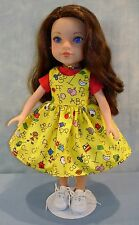 14 Inch Doll Clothes Yellow Back to School Jumper and Red T Shirt by Jane Ellen