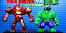2 PCS MINI-FIGURES FITS LEGO 2017 MARVEL BIG GREEN HULK VS IRONMAN HULK BUSTER