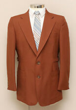 Vintage 1960s Mens 40R Puccini Rust Brown Check Blazer