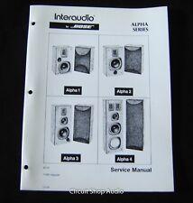 Original Bose Alpha Series 1, 2, 3, 4 Speaker System Service Manual