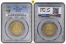 M5496 Rare 2 Francs Chambre de Commerce 1920 PCGS SP64 Bronze-Aluminium FDC