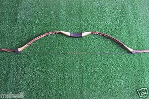 45LB Brown Handmade Recurve Bow Mongolia Traditional Longbow Archery Practice