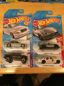2021 HOT WHEELS N CASE MERCEDES-BENZ/FORD F-150/MAZDA MX-5/CHEVY SS LOT OF 4
