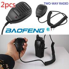 2x Baofeng 2-Way Radio Speaker Mic for BF-888S UV-5R UV-5RA UV-5RB UV-5RC/5RE FT