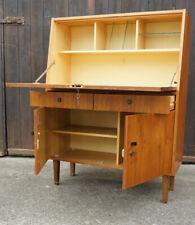 60er Vintage Sekretär Nussbaum Kommode Schreibtisch Highboard Retro Schrank
