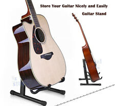 New Folding Electric Acoustic Bass Guitar Stand Floor Rack Holder Black