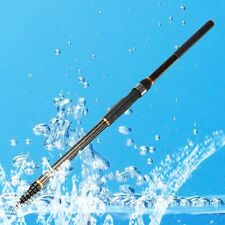 New 4.5m Portable Carbon Fiber Telescopic Spinning Casting Poles Fishing Rods WT