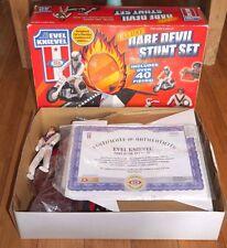 Evel Knievel Deluxe Dare Devil Stunt Set Cycle Action Figure & Launcher Rare Box