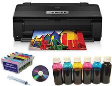 Epson Artisan 1430 Wireless Printer 13x19+Refill Cartridges+600ml Dye Ink Bundle