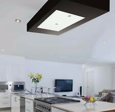 Silverline Albion T1 Stylish White Glass Ceiling Cooker Hood 700m3/h Motor