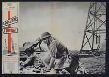 FOTOBUSTA 4, DESTINAZIONE TUNISI Steel Bayonet LEO GENN, CARRERAS WAR POSTER