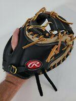"Rawlings RCMB Lite Toe 32.5""  Baseball Catchers Mitt Glove RH Throw BROKEN LACE"