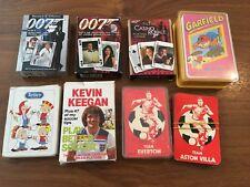 Job Lot Vintage Playing Cards / Card Games - James Bond, Garfield, Sports