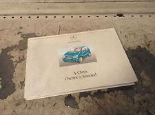 Mercedes Owners handbook manual A Class W168
