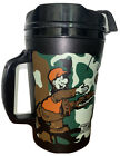 Lamberts Cafe Heads Up Large Travel Mug /Cup Home Of The Thrown Rolls Black Camo