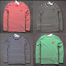 !!STRIPED MEN'S WOMEN COMME DES GARCONS CDG PLAY RED HEART LONG SLEEVE T-SHIRT