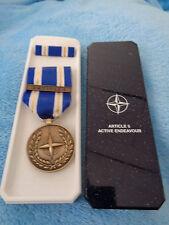 (scha) NATO Einsatzmedaille  Operation ARTICLE 5 ACTIVE ENDEAVOUR Europa made