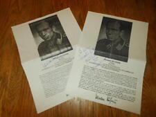 WW2 German Luftwaffe Autograph & Letter - HERMANN BUCHNER - NICE!