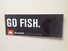 SIMMS  FISHING ORIGINAL STICKER , RODS, LURES BAITS ,LURES lines, FRES SALT fish
