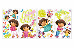 SFK Dora the Explorer Peel & Stick Wall Decals / Wall Stickers