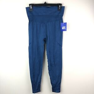 Joylab Leggings Womens XS High Rise Seamless 7/8 Leg Teal Blue Extra Small