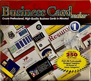 BUSINESS CARD MAKER (Label Publisher, Wizard, PC Software, Double Deluxe Set)