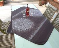 Tischdecke Provence 120x120 cm dunkelgrau aus Frankreich, pflegeleicht bügelfrei