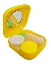 Yellow Mini Colour Contact Lens Travel Kit Case - Pocket Size - Case - Tweezer