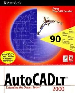 Autodesk AutoCADLtd 2000. Original box with CD and instruction manual