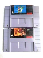 Super Mario World & Disney's The Lion King SNES Super Nintendo Original Game Lot