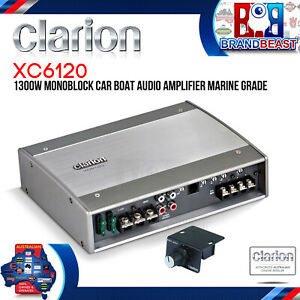 Clarion XC6120 Class D Monoblock Amplifier with Bass Control 1300W