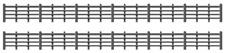Ratio 425 OO Gauge Wood Lineside Fencing (Black)