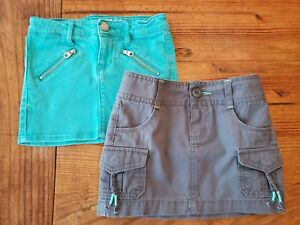 GAP; OLD NAVY Girls 5-6 Skirts Gray; Teal Green Lot of Two